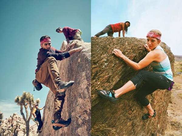 Outdoor Research Satirizes GQ Climbing Shoot     Urban climbing walls are exploding nationwide  and mountaineering clothes  are showing up on fashion runways  But none of that compares to venturing  into one