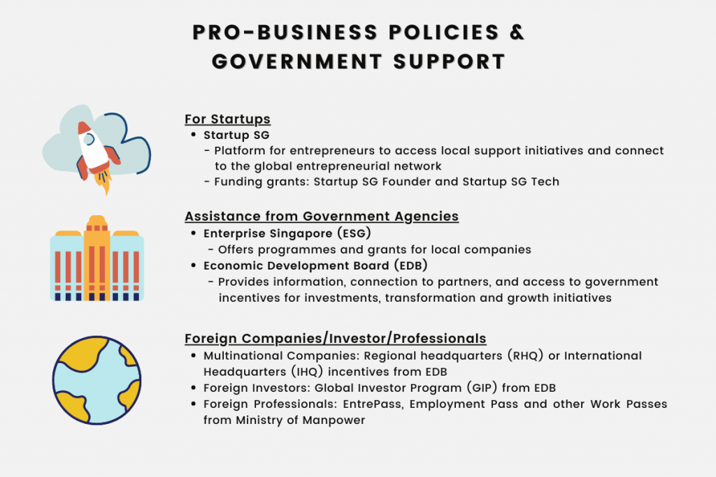 Pro-business Policies and Government Support