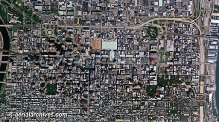Aerial Photographs and Photo Maps of Philadelphia aerialarchives com aerial map of downtown Philadelphia