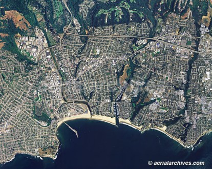 Aerial Maps of Santa Cruz County  CA aerialarchives com aerial map Santa Cruz county  California