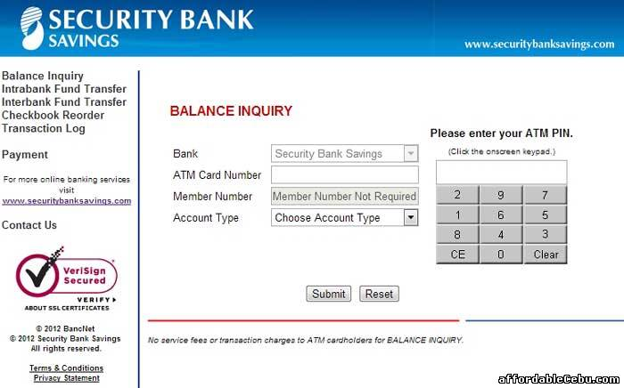 Security Bank Open Account Atm