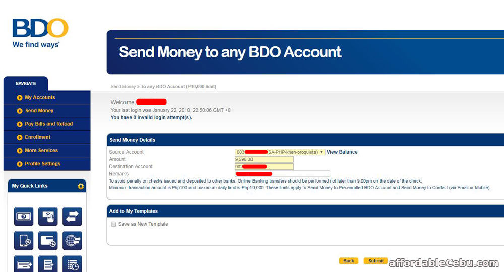Transfer Money One Bank Account Another Person