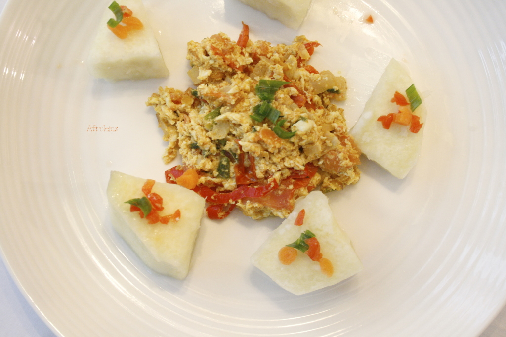 Nigerian Yam And Egg Recipe Afrolems Nigerian Food