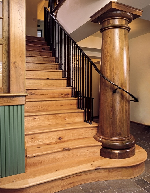 Stair Parts Moldings And Dimensional Wood Aged Woods Inc   Reclaimed Wood Stair Treads   White Oak   Wood Plank   Straight Edge Wood   Lumber   Adhesive Padding 31 Wide Tread Single 10 Deep