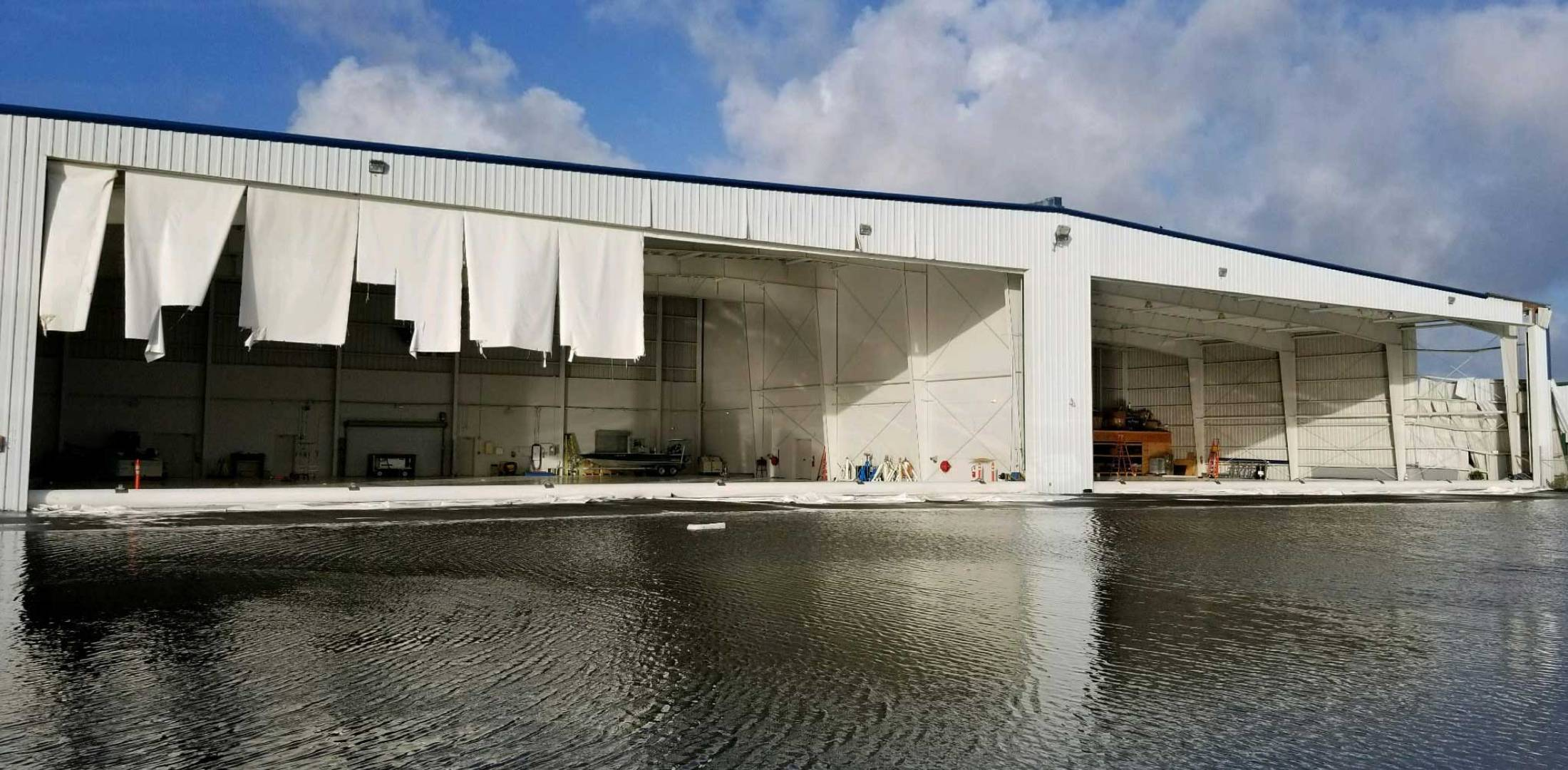 Hurricane Irma  For Most  It Could Have Been Much Worse   Business     Irma damaged hangars at Florida s Naples Municipal Airport