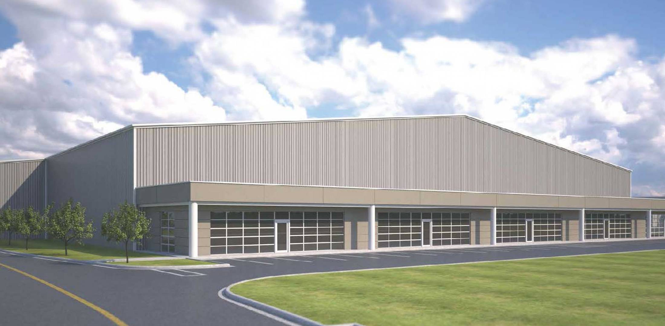 Signature Signs Texas Hangar Development Deal   Business Aviation     Artist rendering of new hangar slated for Austin Bergstrom International  Airport