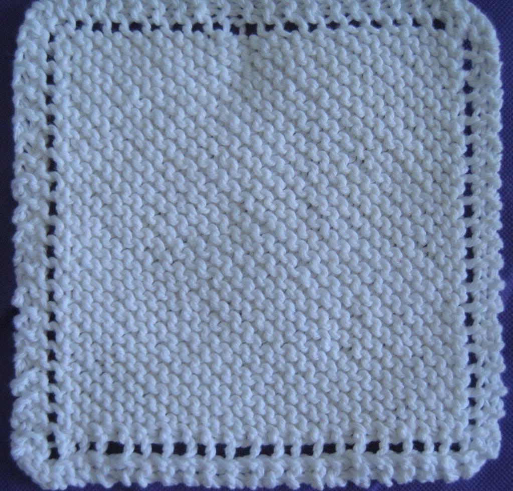 Knitted Dishcloth Patterns Free Printable