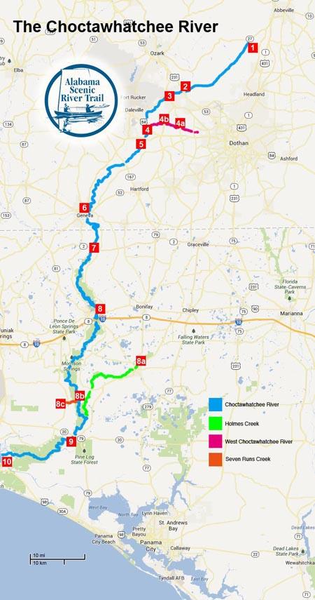 County Walton North Florida Map
