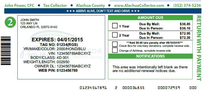 Tax Collector Overhauls Registration Renewals – Alachua ...