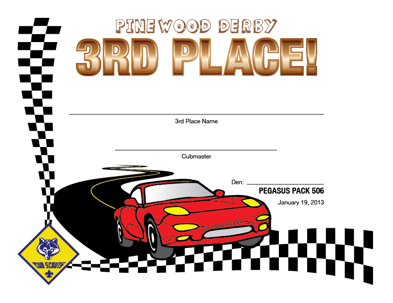 graphic about Free Printable Pinewood Derby Certificates named Pinewood Derby Certification Template Picket Matter