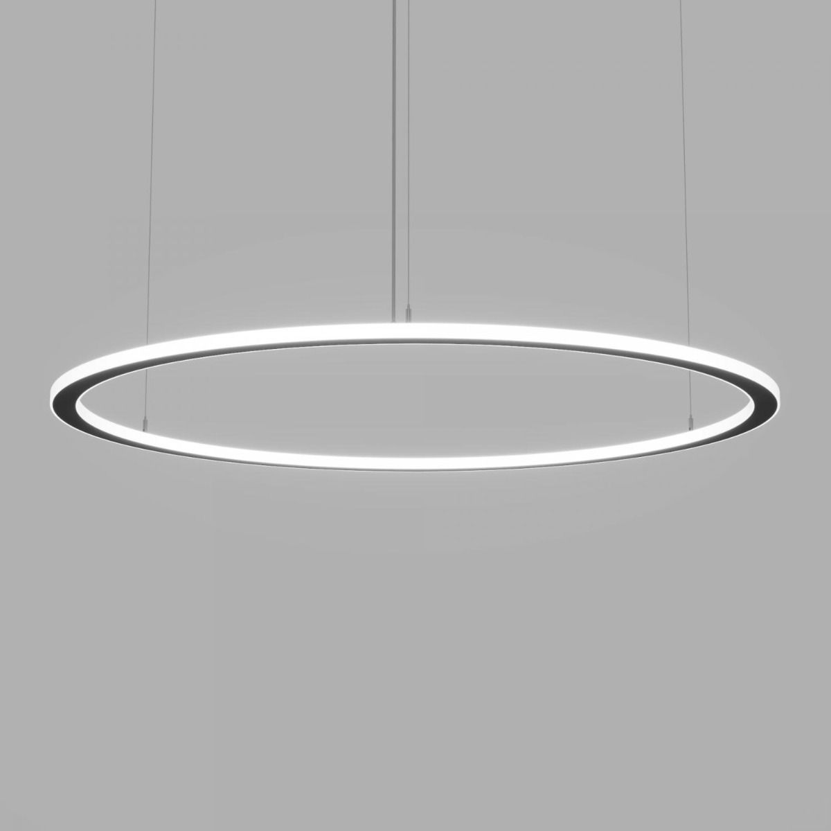 Round Silver Pendant Light