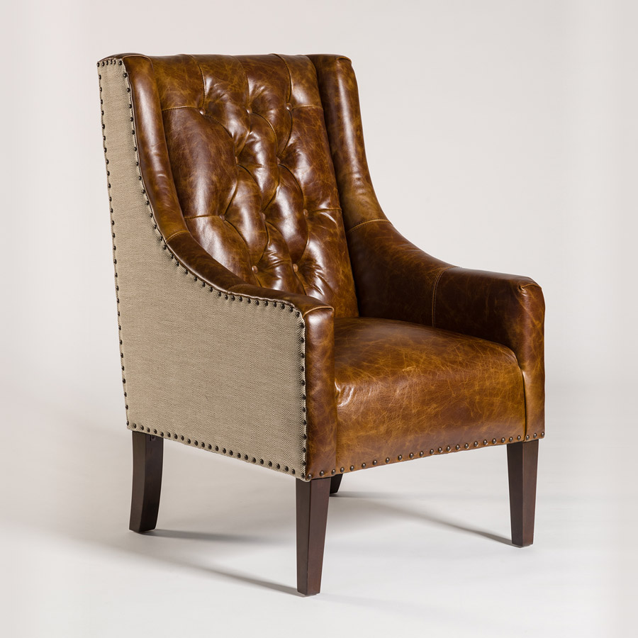 Cream Chair Leather Occasional