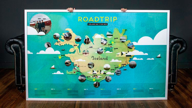 Road Trip Iceland  A Custom Map   Alex Cornell   Alex Cornell is a     Road Trip Iceland  A Custom Map