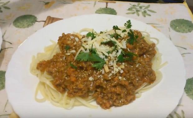 Спагетти рецепті тартылған