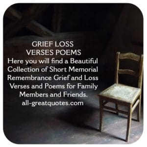 In Loving Memory Grief Loss Verses and Poems Family ...