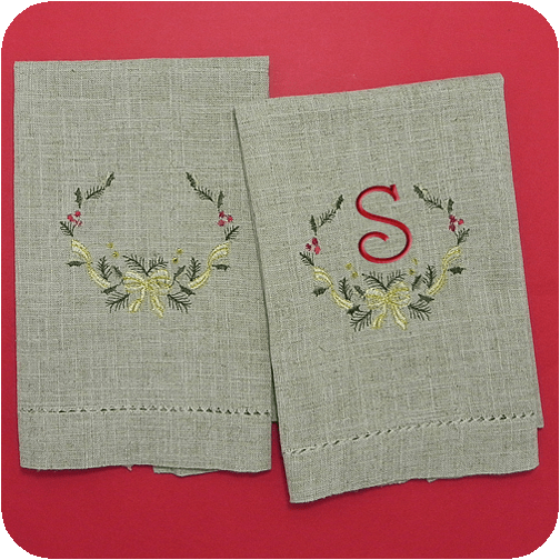 Blank Hand Towels Embroidery