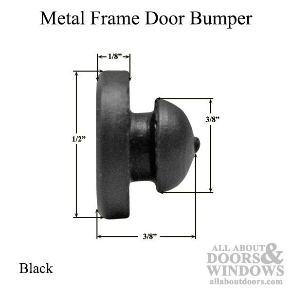 Bumper Stopper Or Door Silencer For Metal Frames In Black