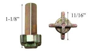 Cross Shaped Lock Actuator Andersen Frenchwood Handleset