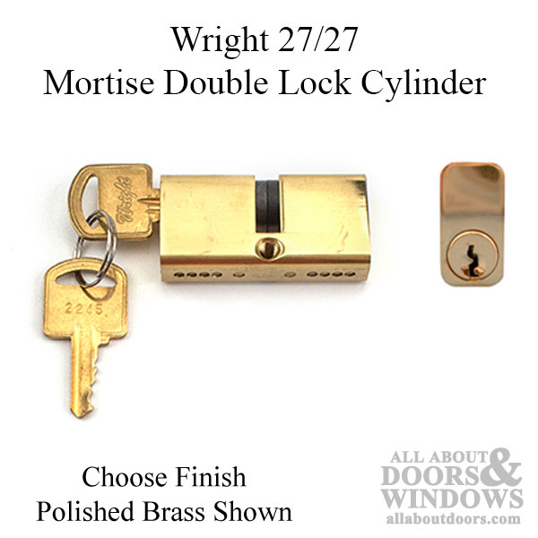 Mortise Lock Double Cylinder 27/27, Key Both Sides - Used Patio Doors