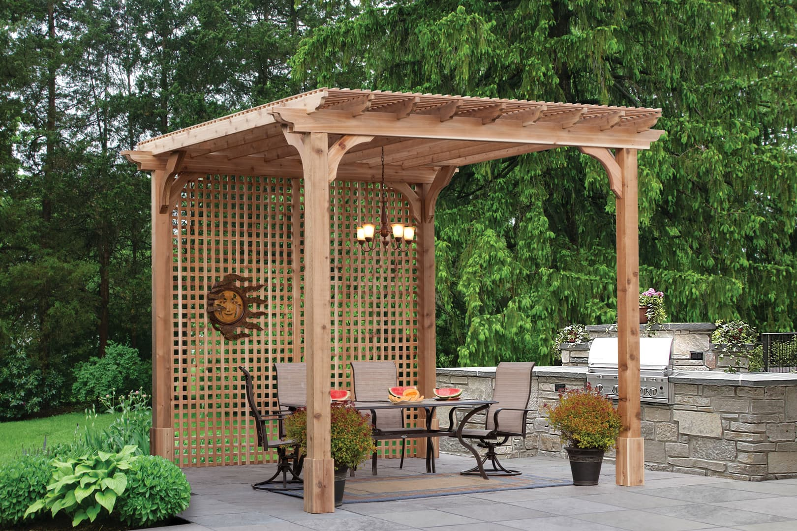 Pa Amish Pergola Backyard Structures In Lehigh Valley