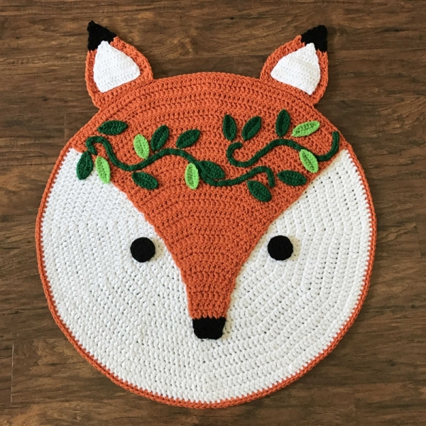 Woodland Fox Nursery Rug Crochet Pattern