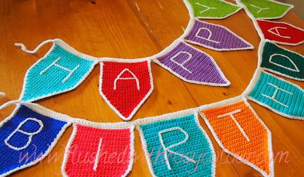 Happy Birthday Bunting Free Crochet Pattern