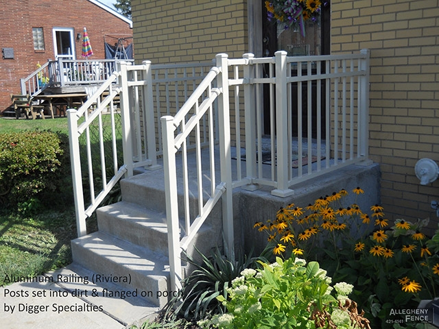 Pittsburgh Residential Railings And Columns Allegheny Fence | Safety Rails For Outside Steps | Stair Handrail | Wrought Iron | Steel | Front Porch | Deck Railing