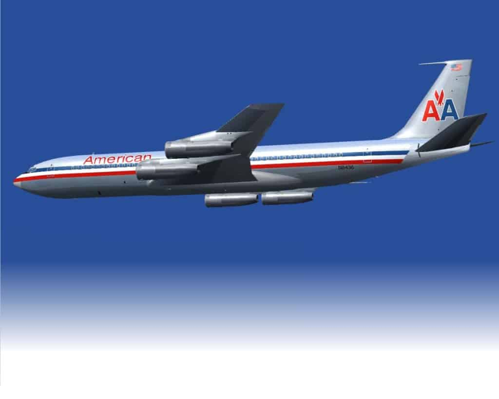 Boeing 707 323b Collection American Airlines Textures