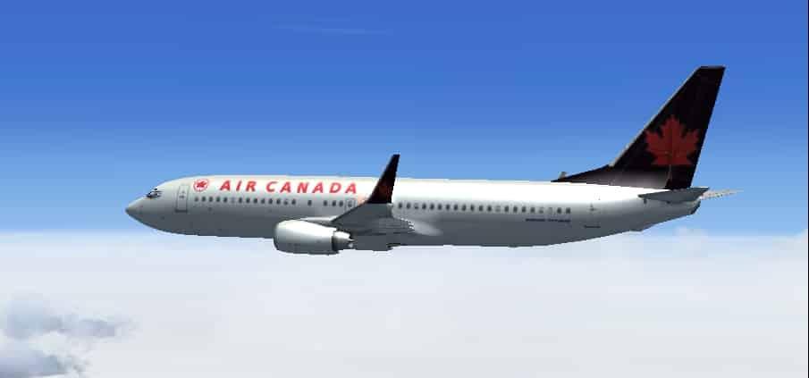 Boeing 737 800 Air Canada Textures Flight Simulator