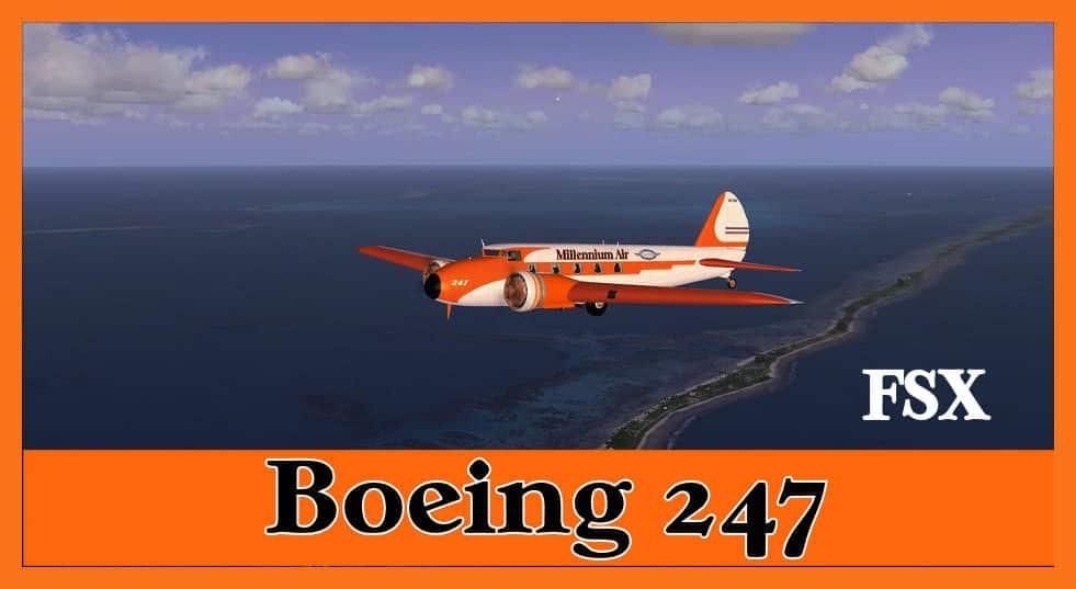 Boeing 247 Millennium Airlines Package Flight