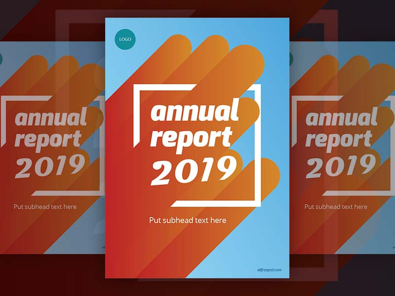 Annual Report 2019 Cover - Free psd and graphic designs