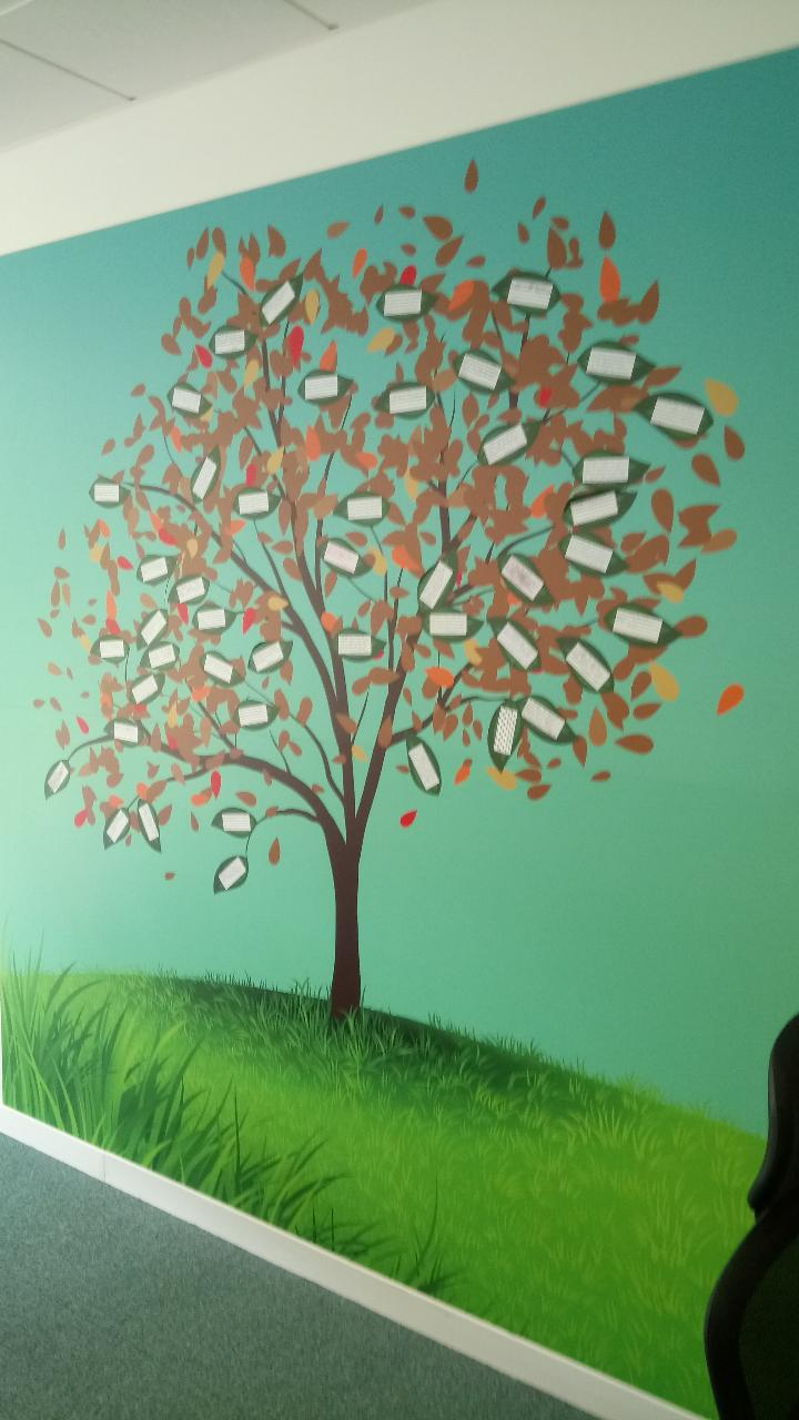 Lucerne Home Care Team Launch Pledge Tree People And