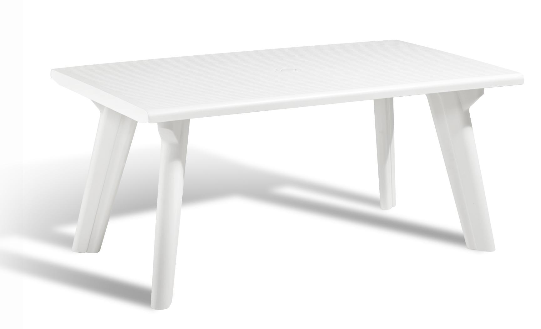 White Plastic Garden Table