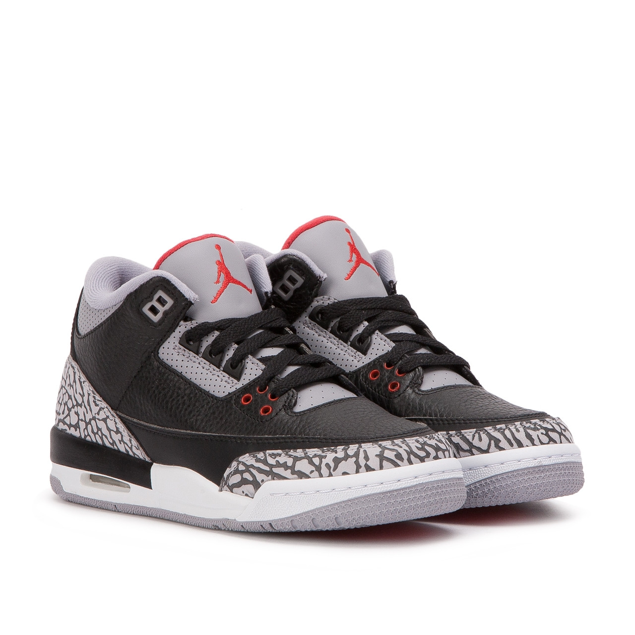 Air Jordan 3 Retro OG  Black Cement   Black   Grey   Red  854262 001 Air Jordan 3 Retro OG  Black Cement   Black   Grey