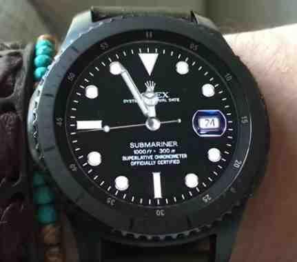 Rolex Submariner Su Samsung Gear S3