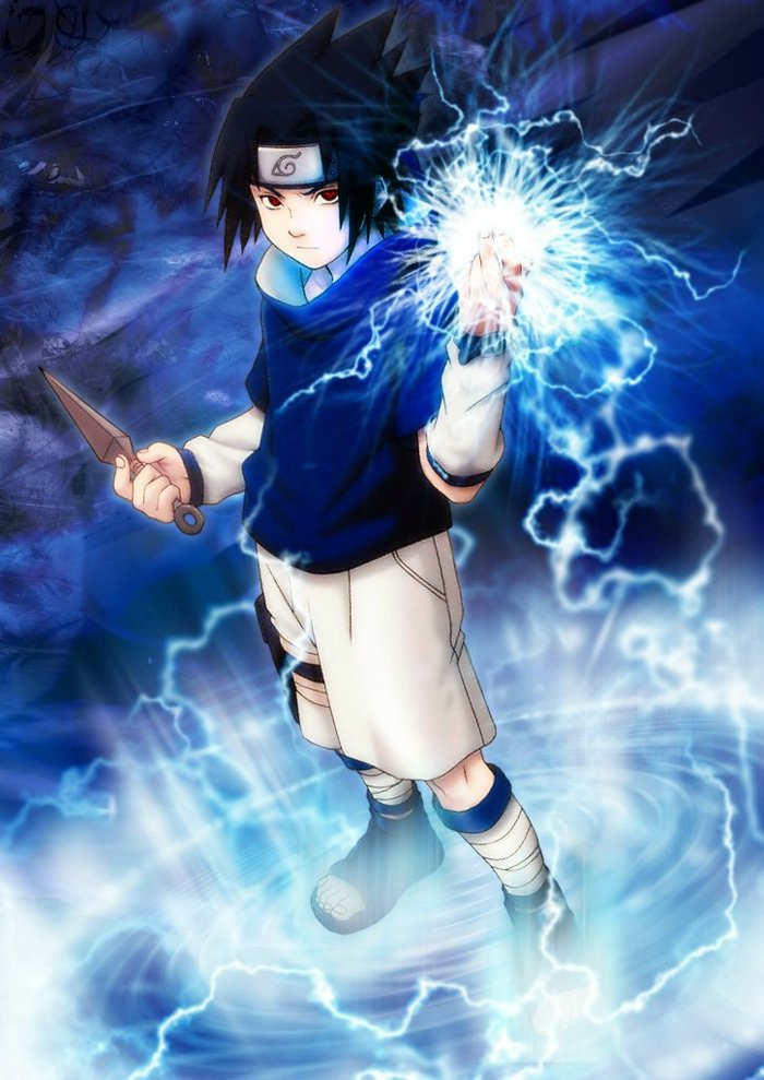 And Naruto Sasuke And Chidori Rasengan