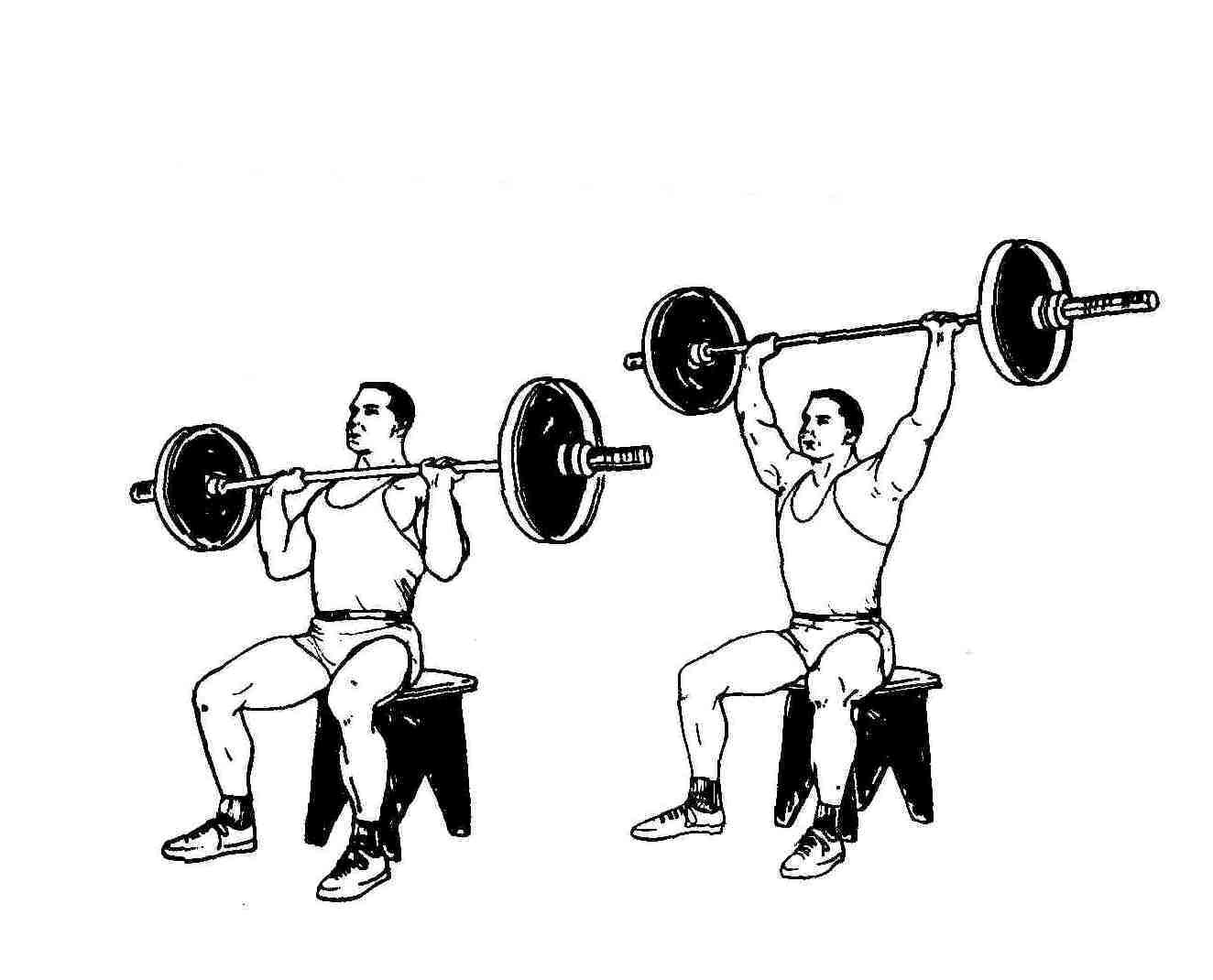 barbell military press exercise - HD 1324×1070