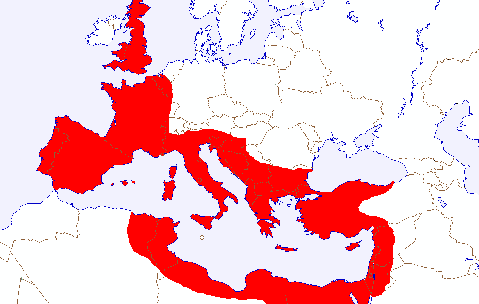 Rule Roman Under Caesar Map