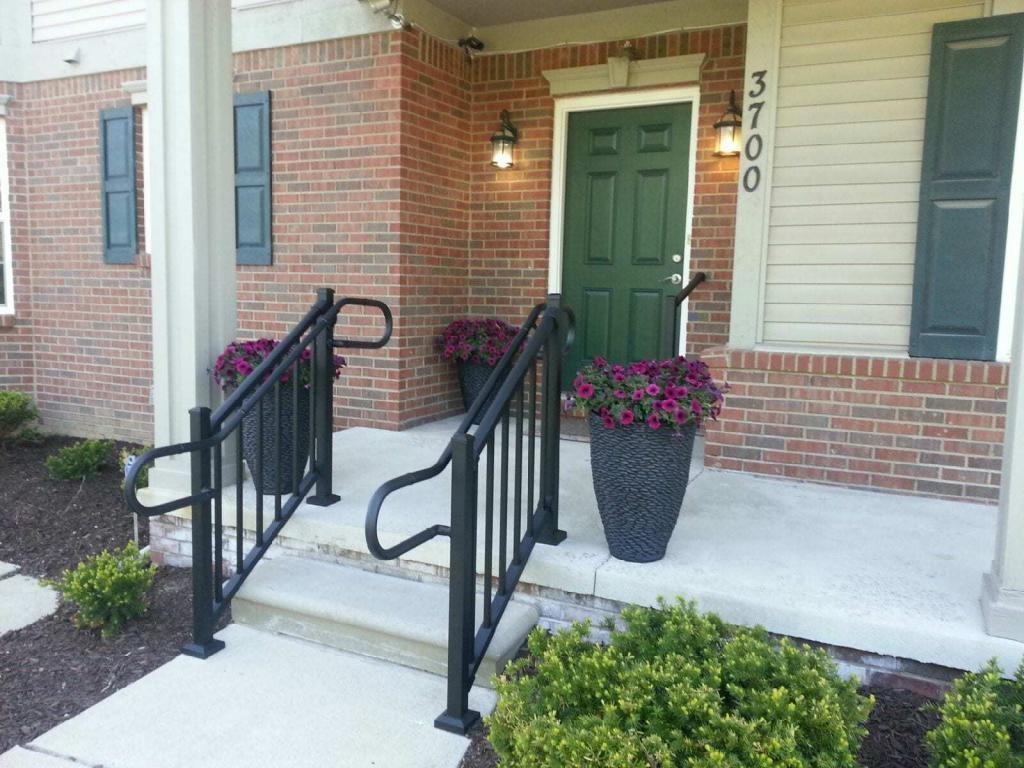 Handrail Return Requirements Aluminum Handrail Direct   Handrails For Porch Steps   Elderly   Makeover   Metal   Back Porch   Aluminum