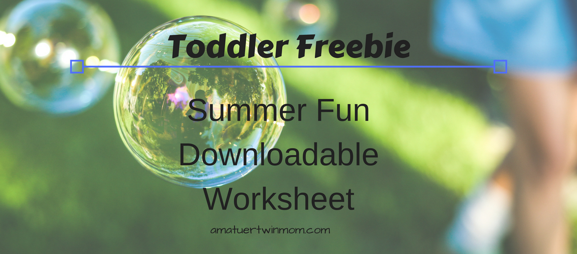 Toddler Freebie  Summer Fun Worksheet   Amateur Twin Mom Celebrate summer while you practice your reading skills with this fun  matching word list  Keep up the skills at Education com with more learning  resources
