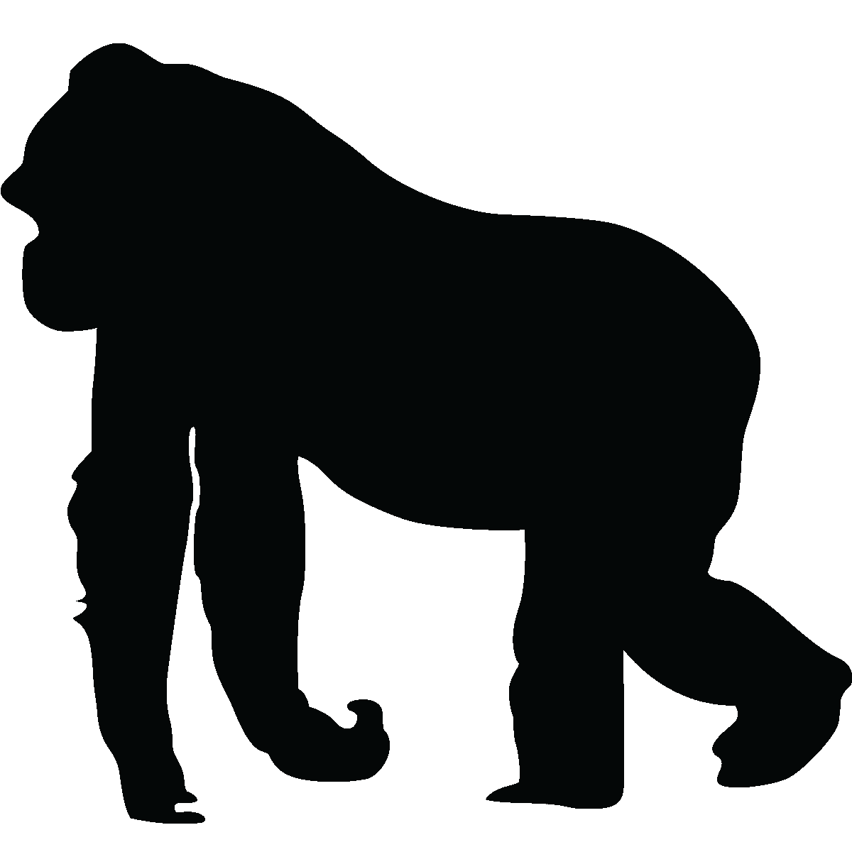 Stickers muraux Animaux - Sticker Silhouette gorille ...