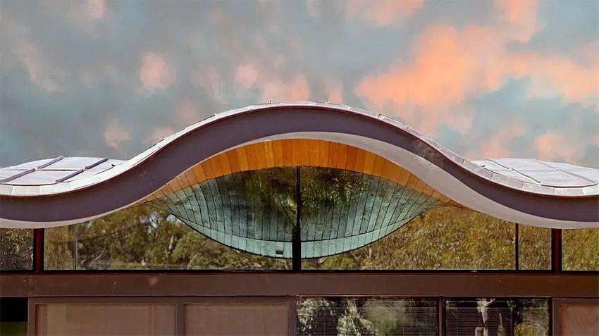 Toiture Ondul 233 E Une Maison Design Avec Un Toit En Vague