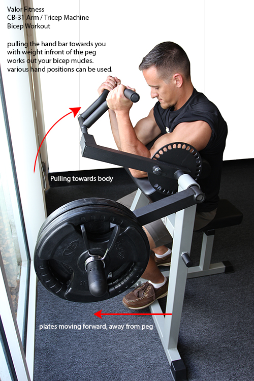 Valor Fitness Cb 31 Bicep And Triceps Machine