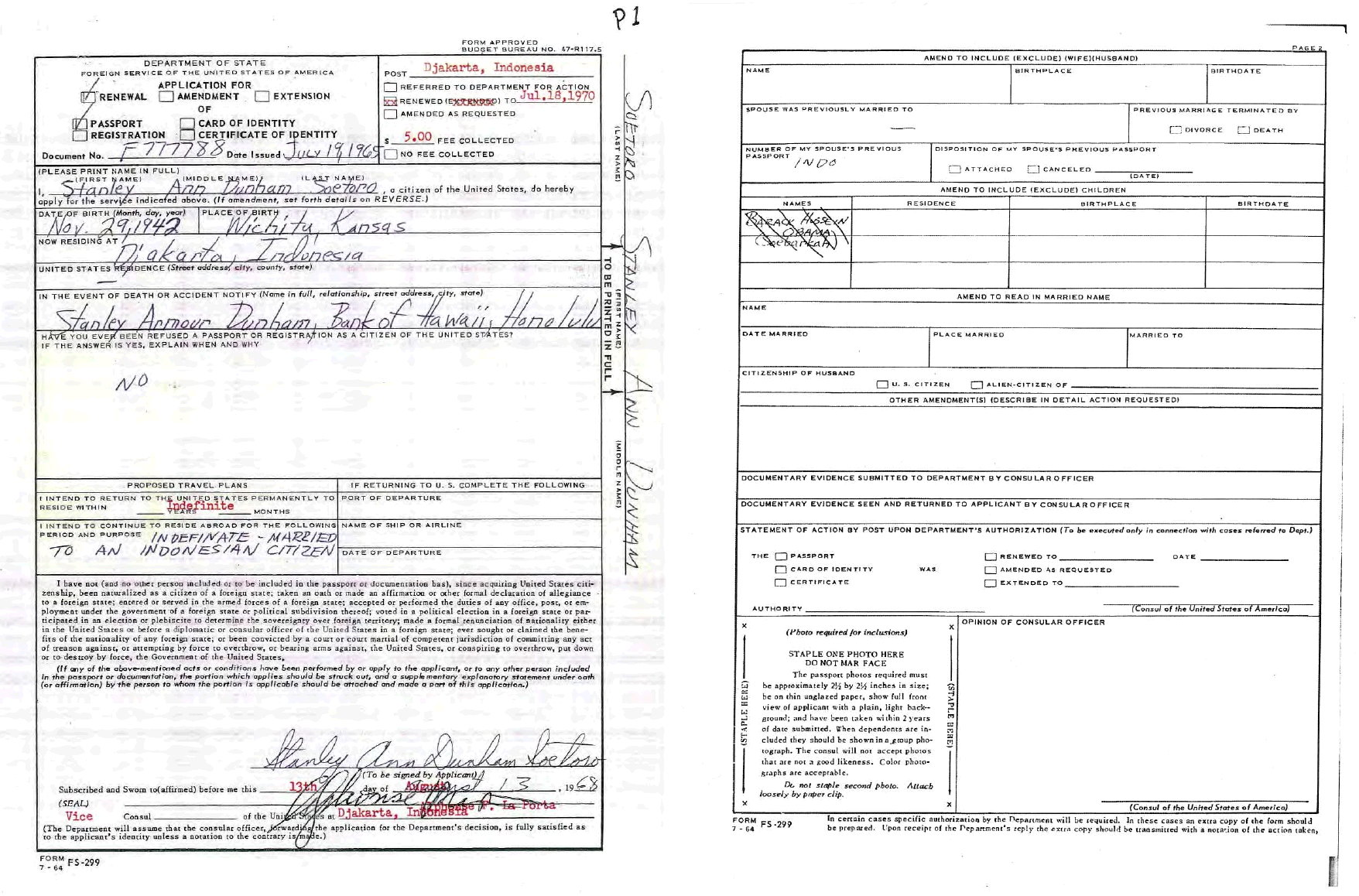 Birth Certificate Renewal