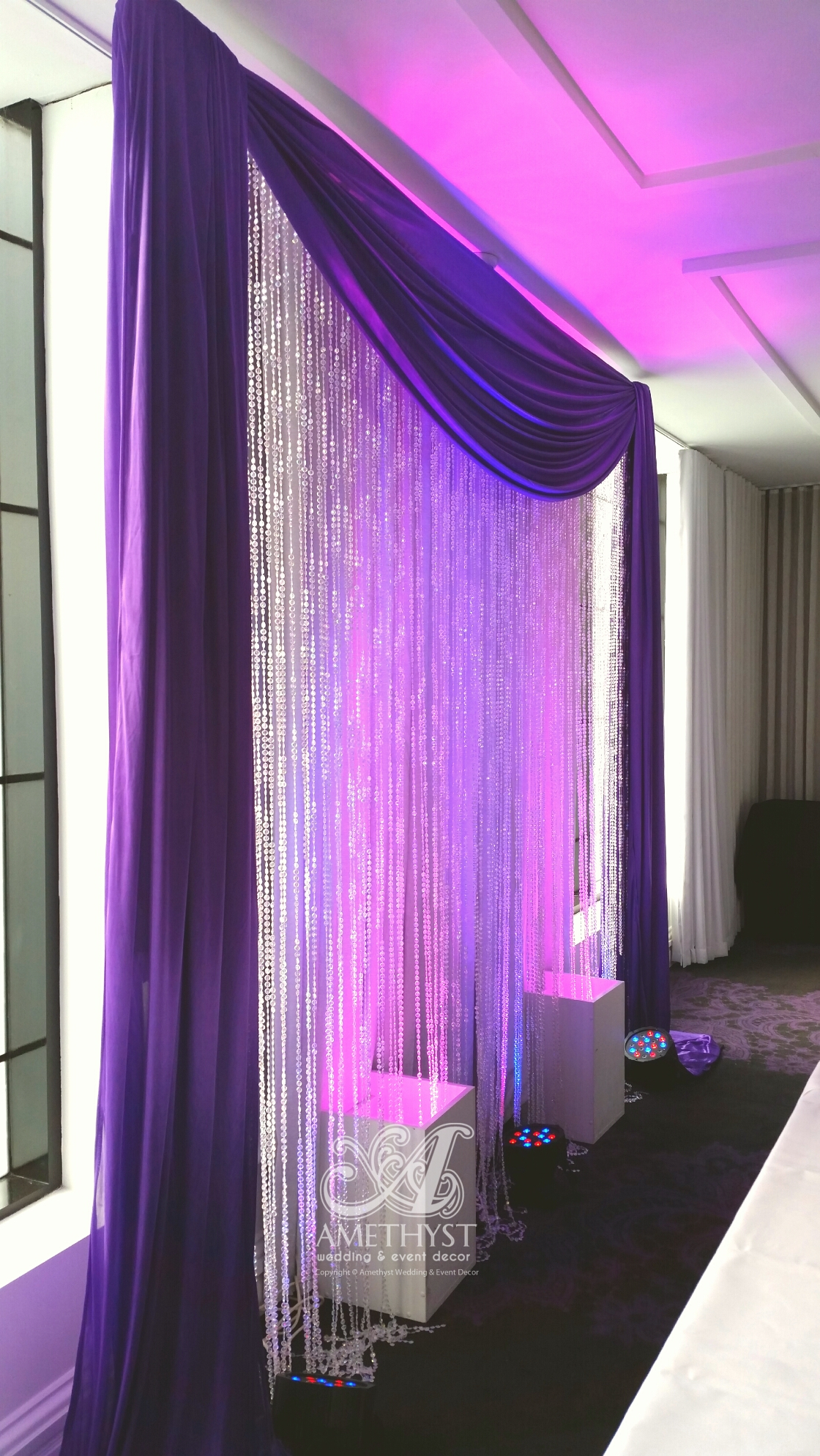 Purple Crystal Backdrop With Lights More Info Gt Gt