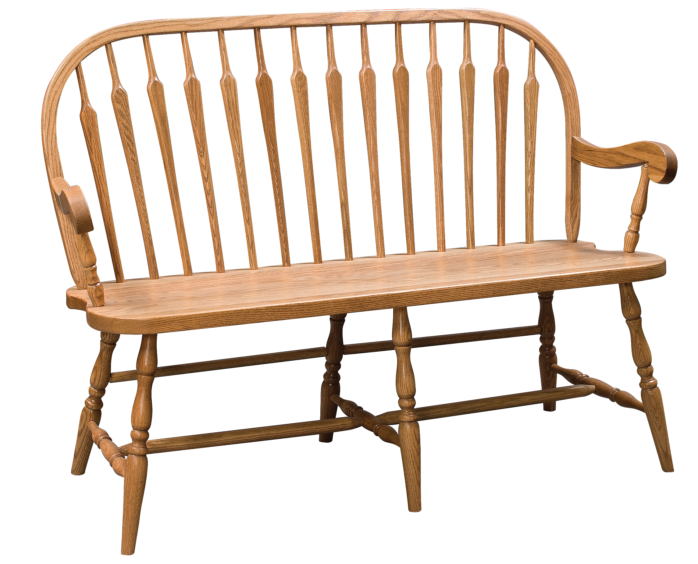 Arrow Back Windsor Bench Amish Furniture Connections