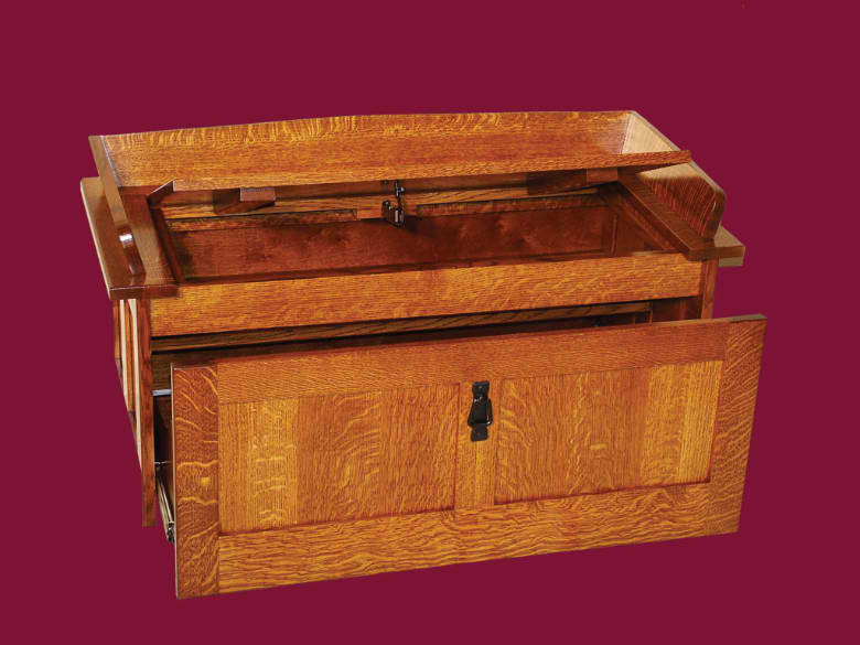 Mission Shoe Storage Chest Amish Valley Products