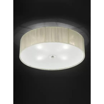 Franklite Desire 500 4 Light Cream Flush Ceiling Fitting