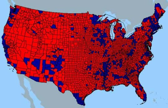 Self Segregation   American Renaissance Electoral Map 2004