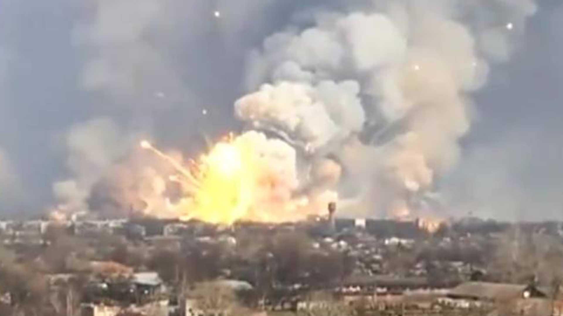 Ukrainian Ammo Depot Explodes Conveniently Amtv 2016 174